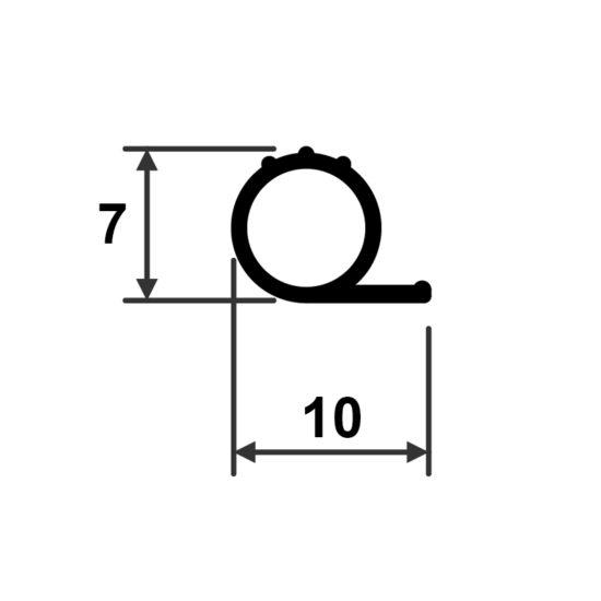Silikonitiiviste 101/7 mittakuva