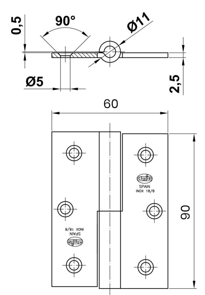 RST-sarana 60x90 mittakuva